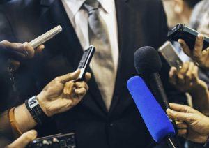 Microphones in a media scrumew