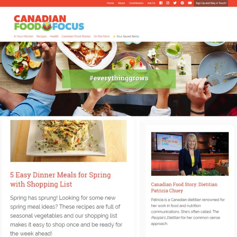 Canadian Food Focus Website